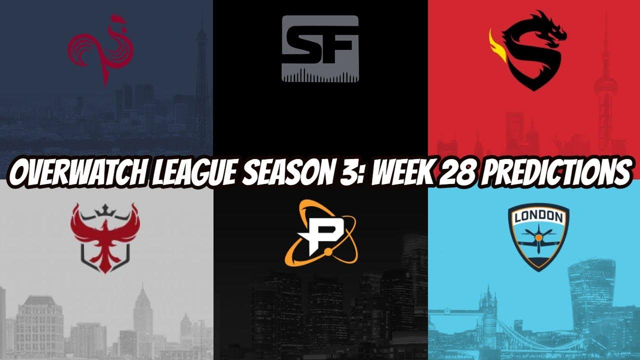 Overwatch League Season 3 Week 28 Predictions
