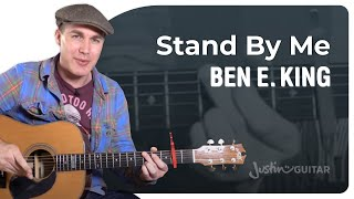 Stand By Me - Ben E King - Easy Beginner Song Guitar Lesson Tutorial (BS-323)