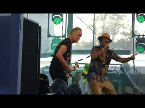 Sting Shaggy 44/876 & Morning Is Coming Royal Park Baarn Netherlands 7 July 2018