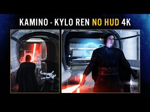 Battlefront II Kylo Ren THE LAST JEDI Skin on Kamino! No HUD 4K Gameplay