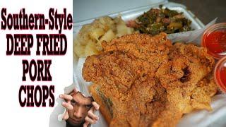 Southern Deep Fried Pork Chops | Pork Chop Recipe