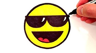 How to Draw a Cool Smiley Face with Sunglasses