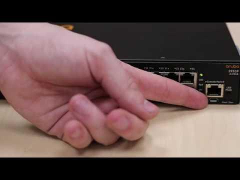 Aruba 2930f Switch - Initial switch setup
