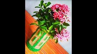 How to make flower vase at home / sand art / best out of waste / diy sand hacks ,Village Skills #602