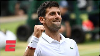 Novak Djokovac cruises past David Goffin, advances to semifinals | 2019 Wimbledon Highlights