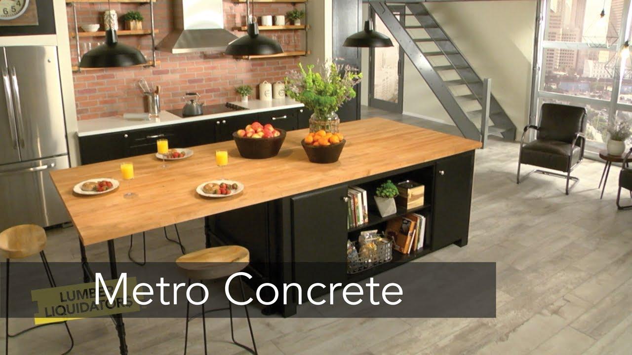 Metro Concrete Oak Porcelain Tile Flooring Youtube