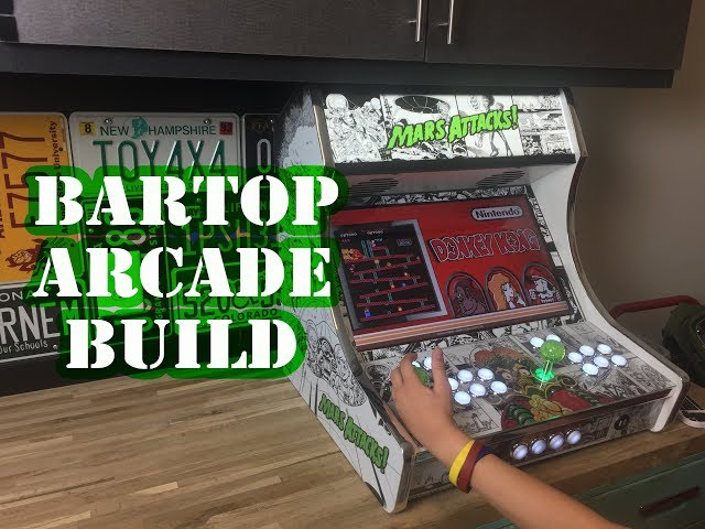 Crazy 5 min Bartop Arcade Build! Mars Attacks!
