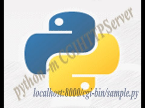 Executing Python script on Web Browser using CGIHTTPServer library.