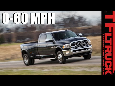 2016 Ram 3500 Dually 0-60 MPH Review: How Fast is 900 lb-ft of Torque