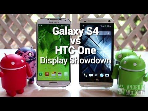 Galaxy S4 vs HTC One : Display Comparison