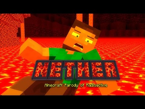 "♬ ""NETHER"" - A MINECRAFT PARODY OF ""RADIOACTIVE"" BY IMAGINE DRAGONS - TOP BEST MINECRAFT PARODY ♬"