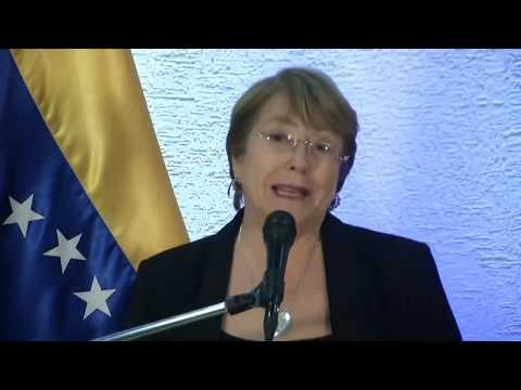 Michelle Bachelet habla tras reunirse con Maduro y Guaidó en Venezuela