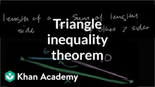 Triangle inequality theorem | Perimeter, area, and volume | Geometry | Khan Academy
