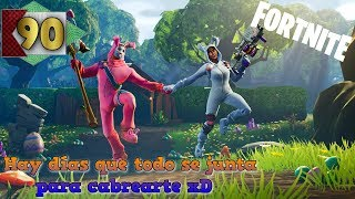 Fortnite in Spanish #90 - The game trolls me - Looking for eggs and a bar + AFK people