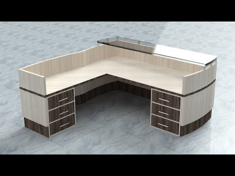 Download Reception Table 3d Modeling With Material Texture Render