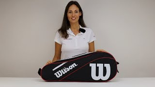 Wilson Advantage 6 Pack Racket Bag Red