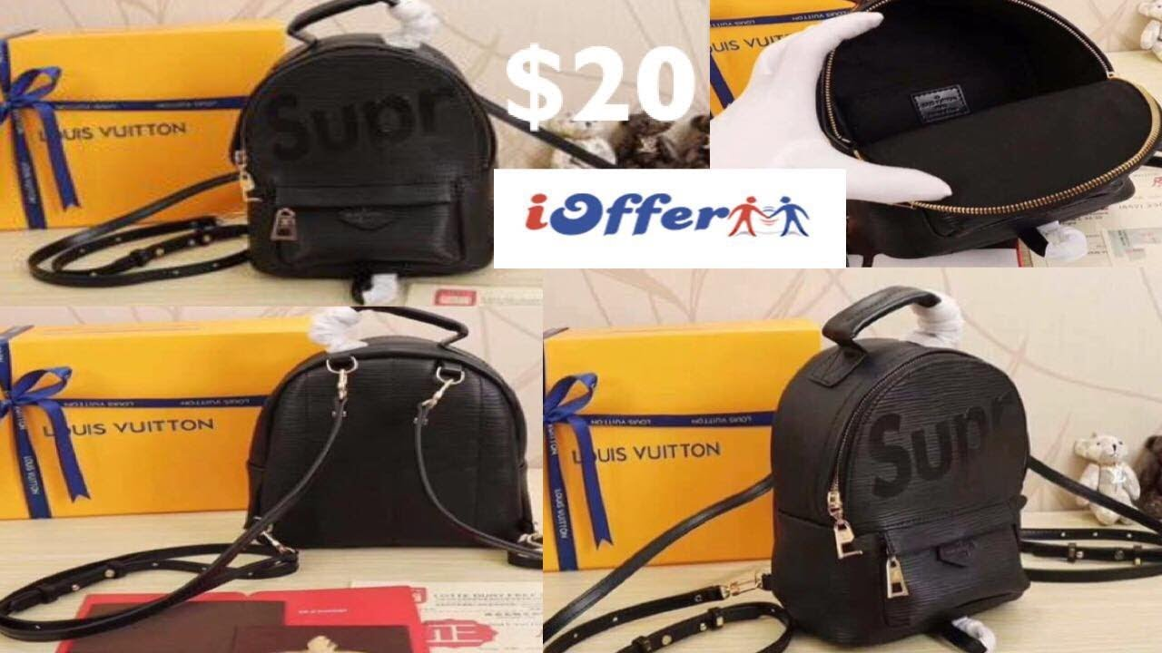 8a38fb3693a3 iOFFER- Louis Vuitton X Supreme Palm Springs MM Backpack Unboxing ...
