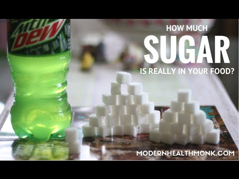 Here's how much sugar is really in food and soda
