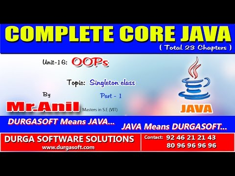 Core Java  -OOPs   Singleton class  Part  -1