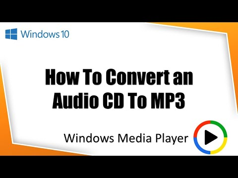 How To Rip Audio CD to MP3 in Windows Media Player | Microsoft Windows 10 Tutorial