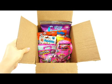 Посылка с сюрпризами и игрушками для детей
