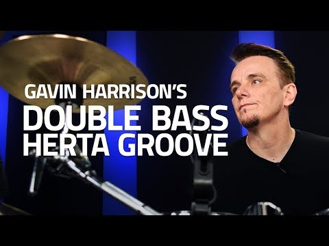 Gavin Harrison's Double Bass Herta Groove (Drum Lesson)