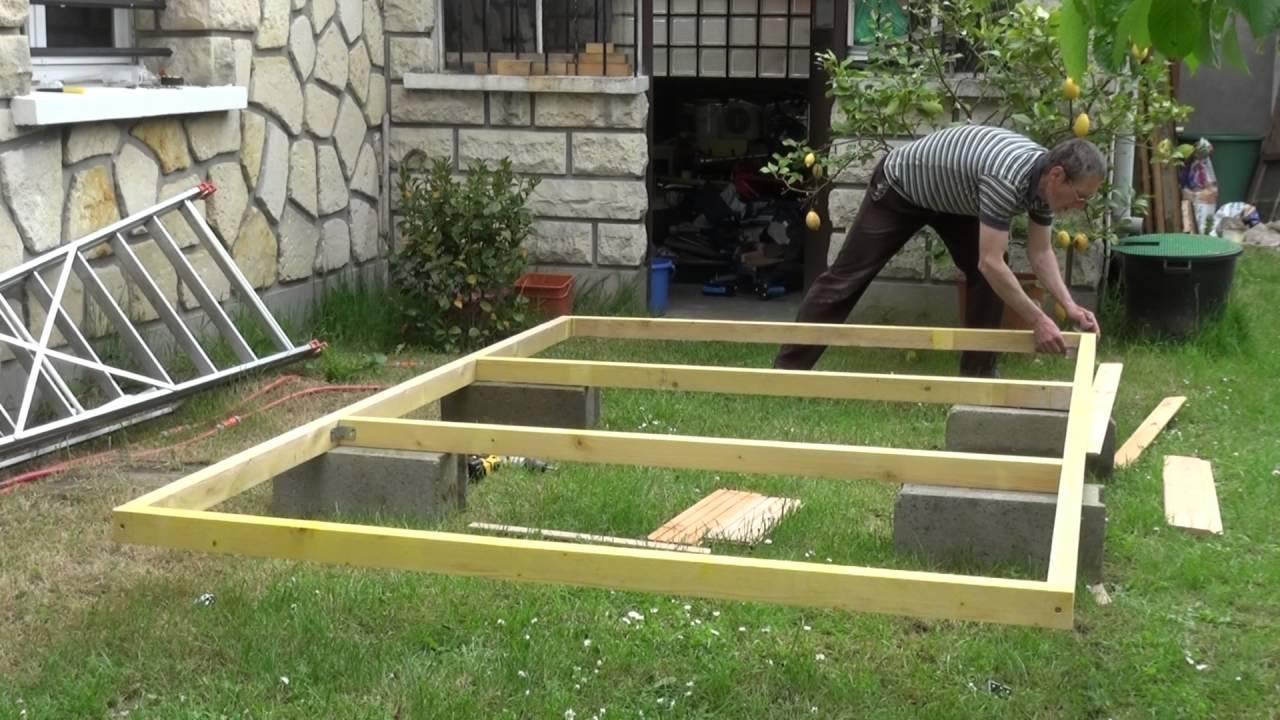 Dalle Beton Terrasse Youtube Par Philordi Reffection De Mon 1er Abris De Jardin Phase 2
