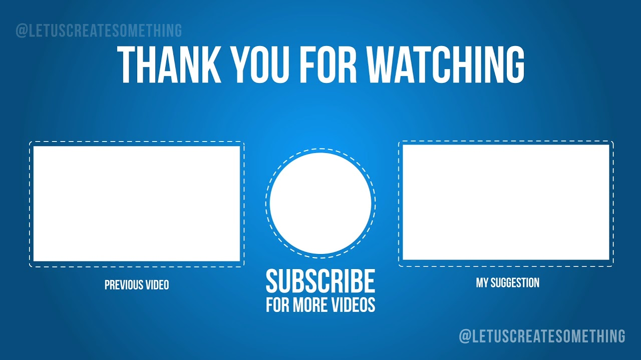 Best Youtube Outro End Screens Template 2 Letuscreatesomething