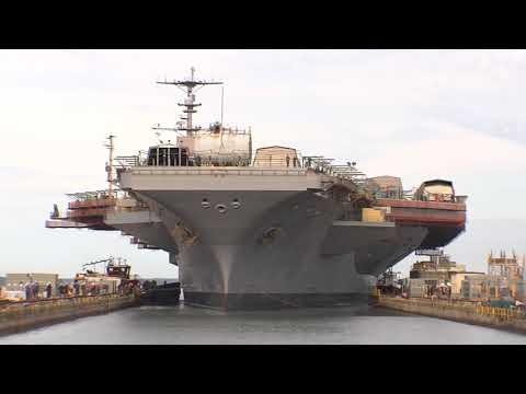 USS George Washington (CVN 73) Arrives at Newport News Shipbuilding