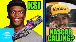 KSI TO FORMULA E   Alonso, Johnson NASCAR Seat Swap CONFIRMED   IndyCar Tests COTA