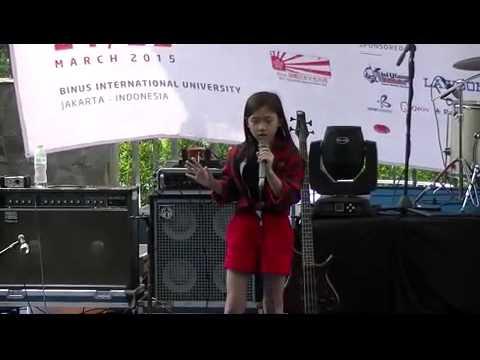 Syifa  Aozora no Namida Takahashi Hitomi karaoke @ Bijac no Tanjoiwai 8