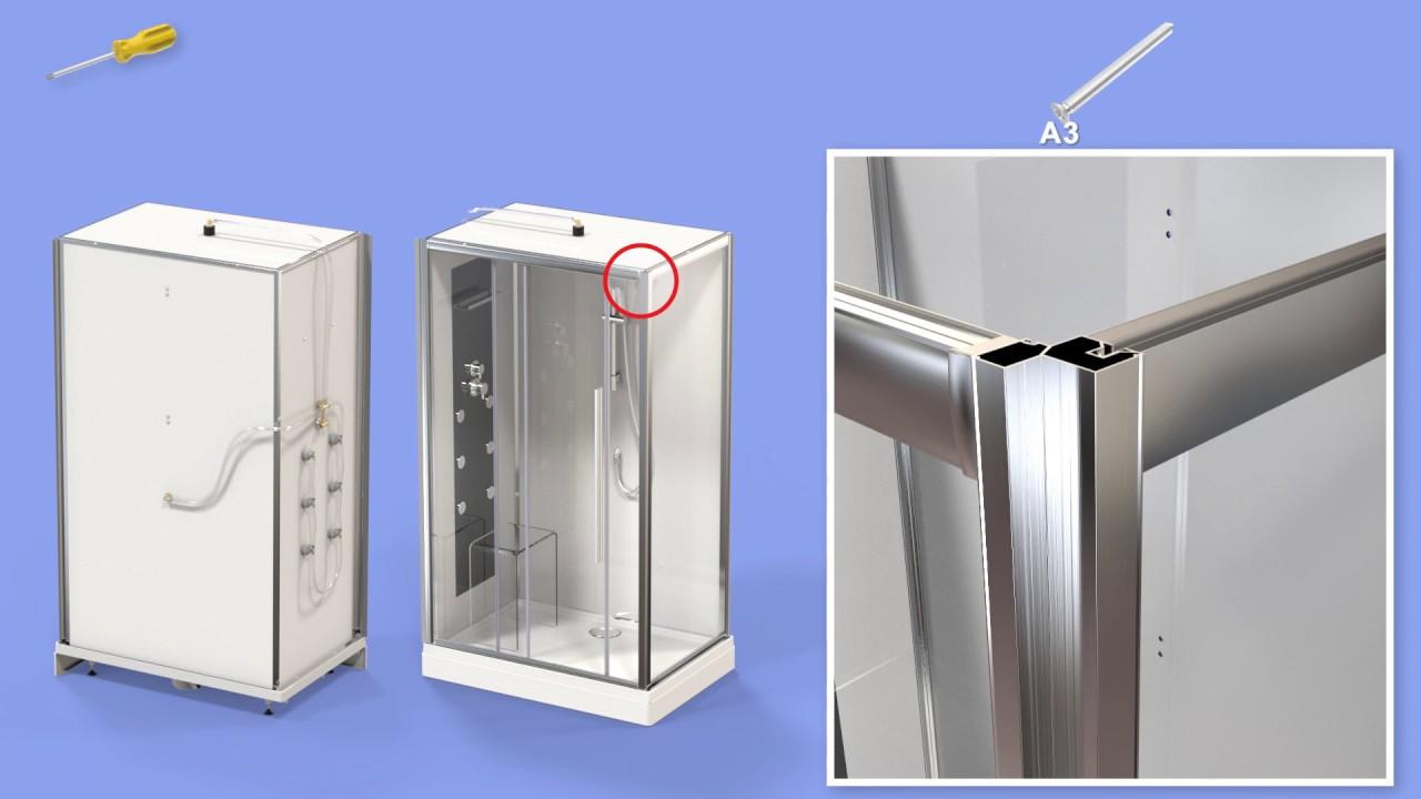 Notice de montage douche beauty3 youtube - Notice de montage cabine de douche aurlane ...