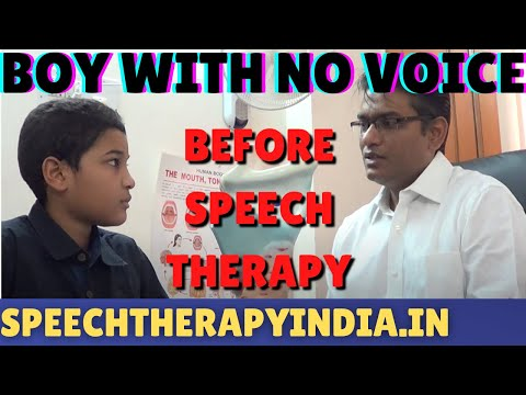 SLP Sanjay Kumar: Before Functional Aphonia Therapy  || Voic