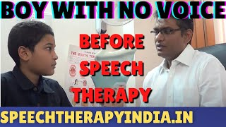 Before Functional Aphonia Voice Therapy For A Boy From Mombasa Kenya, Affrica By SLP Sanjay In India