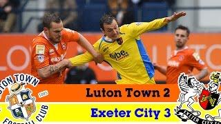 Luton Town 2-3 Exeter City (3/4/15) - Sky Bet League 2 Highlights 2014/15