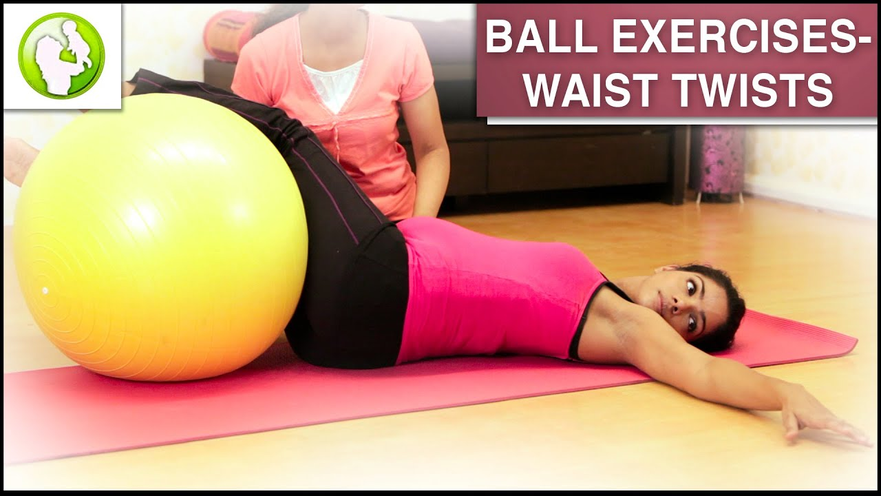 Pregnancy Workout Ball Exercise For Back Pain Youtube