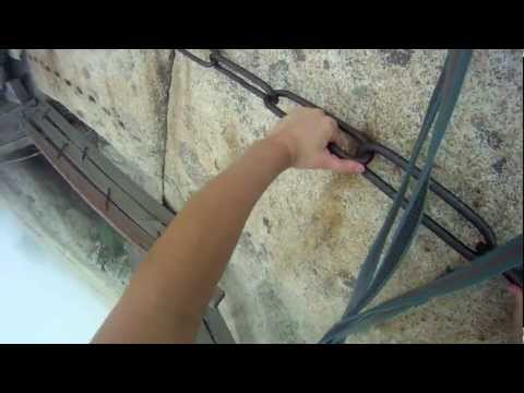 华山 Hua Shan Cliffiside Plank Walk with GoPro HD (Full 12 min)