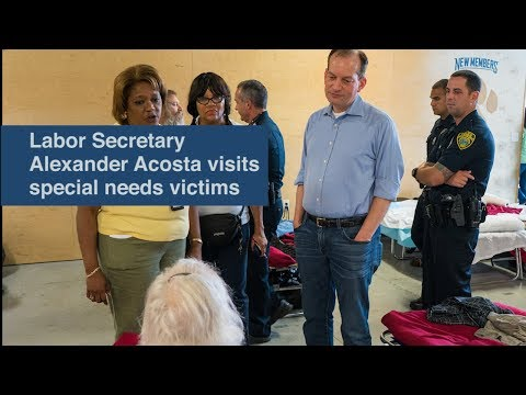 Labor Secretary Alexander Acosta visits special needs victims