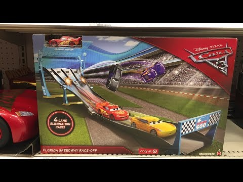 Off The Pegs! Disney Pixar Cars Florida Speedway Race-Off Elimination Race in-store video