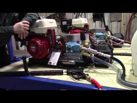 Training Video 2-step Fleet Washing Trailer. 2-GX390 Honda 2500 PSI @ 5 GPM Pressure Washers.