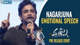 Nagarjuna Full Speech | Nagarjuna Emotional Speech about Jr NTR | Mr Majnu Pre Release Event