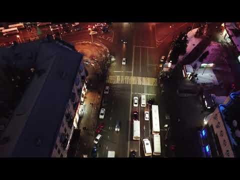 Ночной Воронеж с высоты птичьего полёта