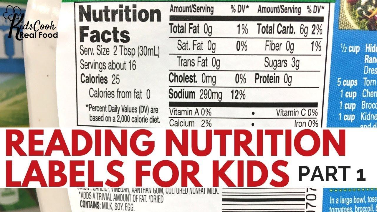 Reading Nutrition Labels For Kids Part 1 Hpc E12 Youtube [ 720 x 1280 Pixel ]