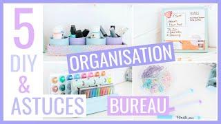 5 DIY & ASTUCES FACILES : BUREAU / Rangement & Organisation #4