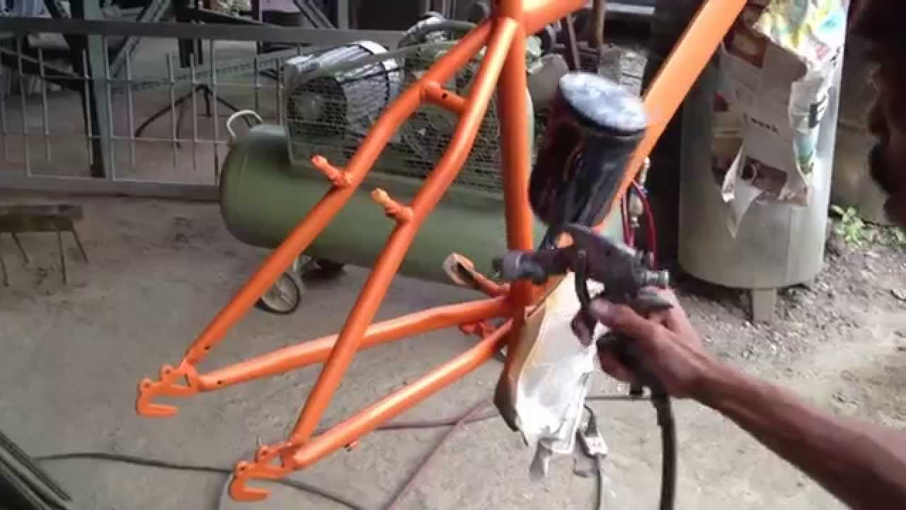 Mountain bike painting job - YouTube