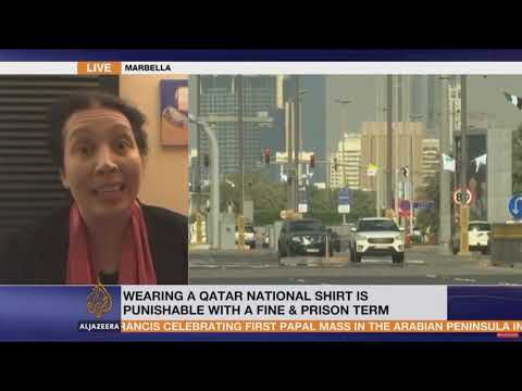 Radha Stirling talks with Al Jazeera on Brit arrested for Qatar t-shirt