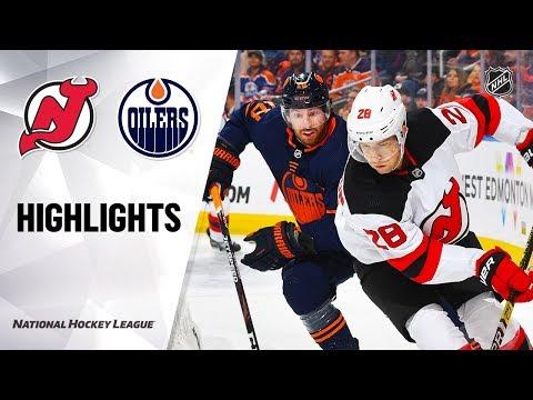 NHL Highlights   Devils @ Oilers 11/08/19