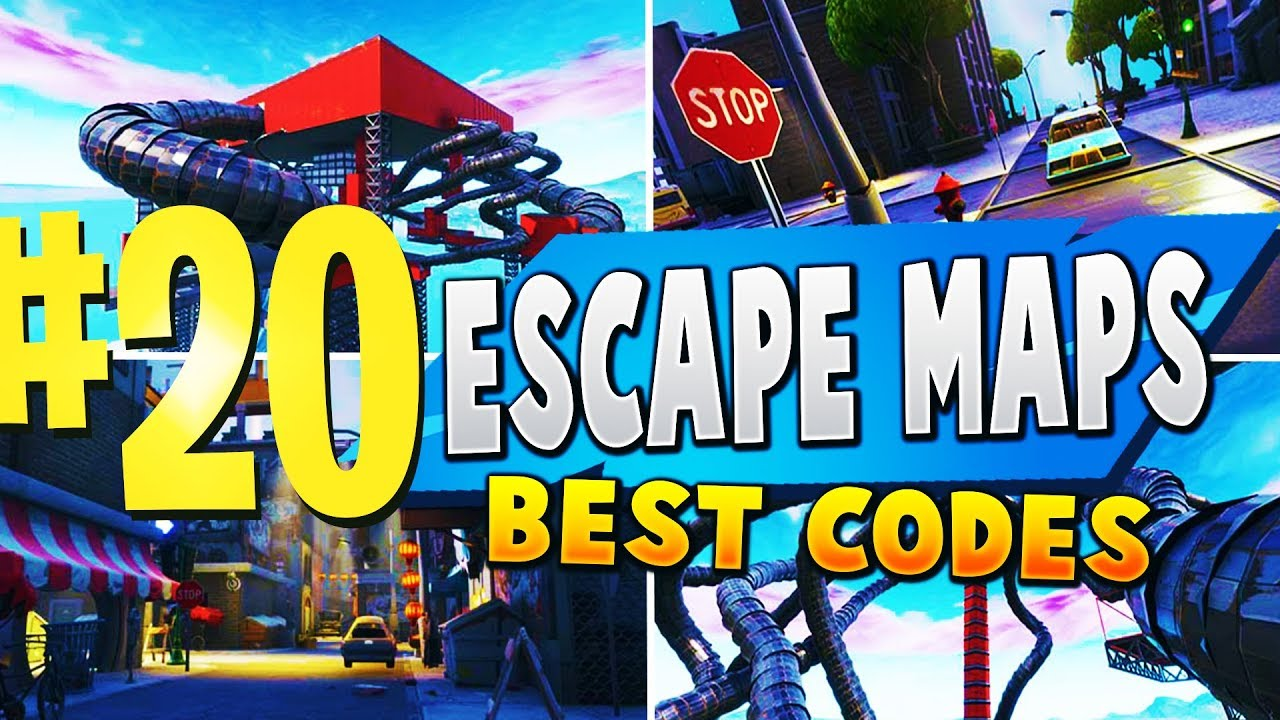Top 20 Best Escape Room Map Codes In Fortnite Fortnite Escape Room Codes Youtube
