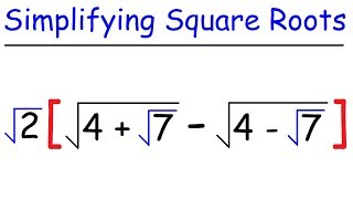 Math - Simplifying Sqขare Roots