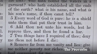 the proverbs a verse by verse reading from the king james bible